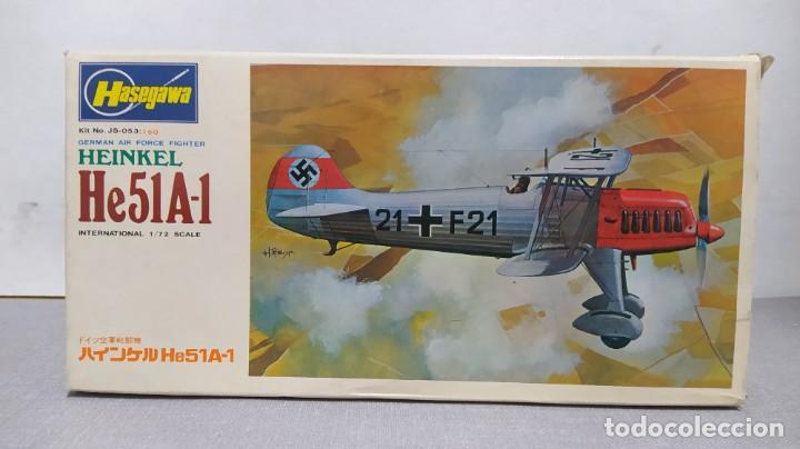 HEINKEL HE51A-1 ESCALA 1/72 HASEGAWA. BOLSAS SIN ABRIR. (Juguetes - Modelismo y Radio Control - Maquetas - Aviones y Helicópteros)
