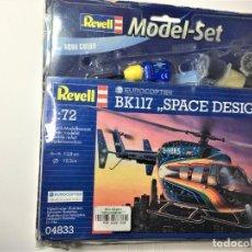 Maquetas: MAQUETA HELICOPTERO BK117 SPACE DESIGN DE REVELL 1:72 MODEL-SET. Lote 233739270