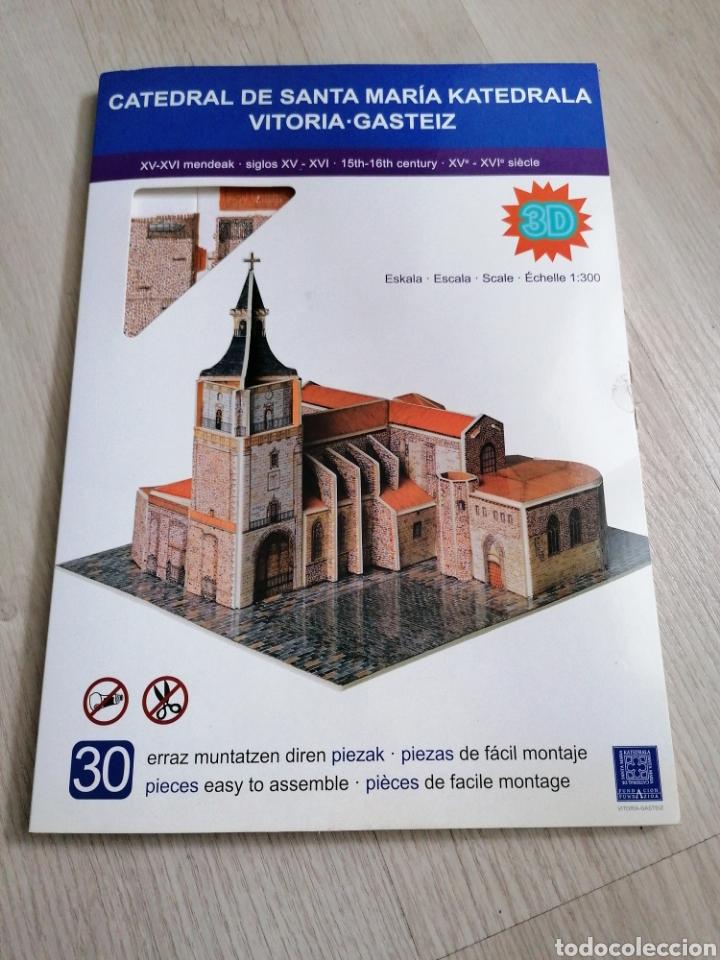 MAQUETA 3D CATEDRAL DE SANTA MARIA VITORIA GASTEIZ (Juguetes - Modelismo y Radiocontrol - Maquetas - Construcciones)