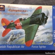 Macchiette: POLIKARPOV I-16 (SUPER MOSCA) SPANISH REPUBLICAN AIR 1:48 ARK 48020 MAQUETA AVION GUERRA CIVIL. Lote 234138325