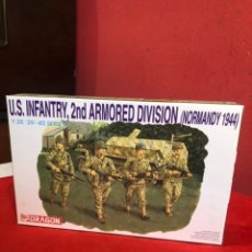Maquetas: U.S INFANTRY,2 ND ARMORED DIVISION (NORMANDY 1944). Lote 235037960