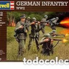 Maquettes: REVELL - GERMAN INFANTRY 1/32 02630. Lote 235373390