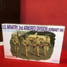 Maquetas: U.S INFANTRY,2 ND ARMORED DIVISION (NORMANDY 1944). Lote 235693085