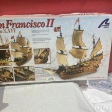 Maquetas: MAQUETA BARCO DE MADERA SAN FRANCISCO 2 . GALEÓN SIGLO XVI . NUEVA SIN MONTAR. Lote 236791490
