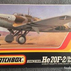 Maquetas: HEINKEL HE-70 F-2/G-1/ A/ CALCAS ESPAÑOLAS 1:72 MATCHBOX PK-132 MAQUETA AVION GUERRA CIVIL LEGIÓN CO. Lote 237592545