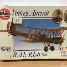 Maquetas: EDICIÓN ESPECIAL VINTAGE AIRFIX (1987) - AIRCRAFT I WW - AVIÓN RAF RE8 SERIE 1 01076. ESCALA 1/72. Lote 237981515
