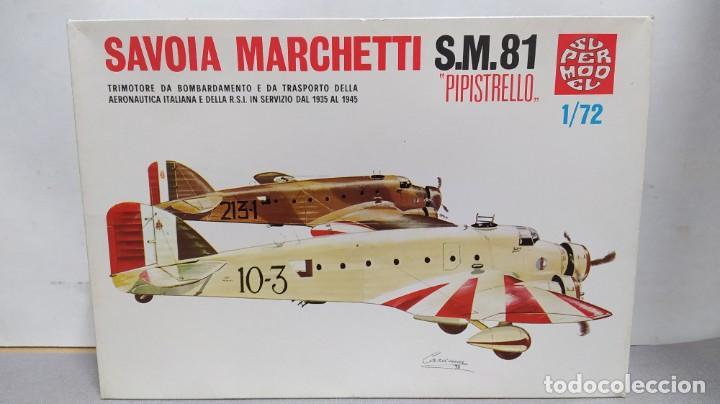 SAVOIA MARCHETTI S.M.81 PIPISTRELLO 1/72 SUPERMODEL. NUEVO BOLSAS SIN ABRIR (Juguetes - Modelismo y Radio Control - Maquetas - Aviones y Helicópteros)