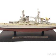 Maquetas: MAQUETA EN METAL DEL ACORAZADO USS PENNSYLVANIA, ARMADA DE LOS EEUU , 1916, APROXD. 21 CM. DE ESLORA. Lote 238764000