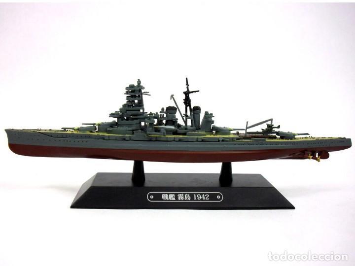 Maquetas: Maqueta en metal del Acorazado japonés Kirishima, 1942, 1:1100, aproxd. 20,5 cm. de eslora - Foto 3 - 238800765