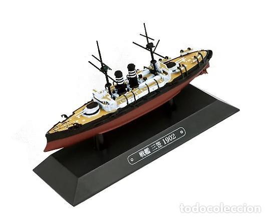 MAQUETA EN METAL DEL ACORAZADO JAPONÉS MIKASA, 1902, 1:1100, GUERRA RUSO-JAPONESA (Juguetes - Modelismo y Radiocontrol - Maquetas - Barcos)