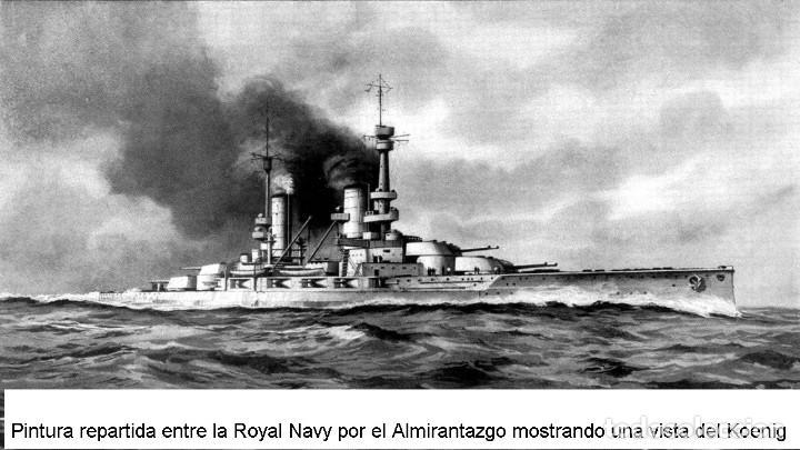 Maquetas: Maqueta en metal del Acorazado Konig, de la Kaiserliche Marine, 1914, 1:1250, I Gran Guerra - Foto 3 - 239409555