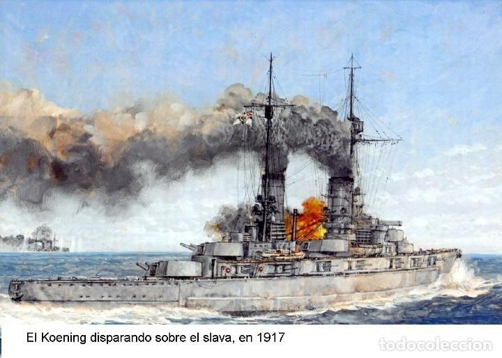 Maquetas: Maqueta en metal del Acorazado Schlesien, de la Kaiserliche Marine, 1908, 1:1250, 19 cm de largo. - Foto 2 - 239411800