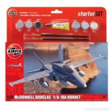 Maquettes: AIRFIX 055313 # LARGE STARTER SET - MCDONNELL DOUGLAS F-18A HORNET 1:72. Lote 236366345