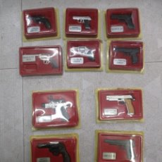 Maquetas: LOTE 10 ARMAS REVOLVERES / PISTOLAS - NUEVAS SIN ABRIR - MINIATURAS ORBIS / RBA. Lote 240476445