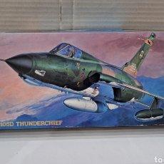 Maquetas: HASEGAWA F-105D THUNDERCHIEF. NUEVO. INTERIOR PRECINTADO. ESCALA 1/72. 1992.HOBBY KITS.AVIÓN COMBATE. Lote 241464870