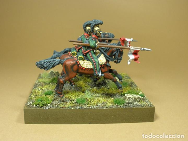 Maquetas: Diorama de la batalla de Waterloo 1815. Conjunto de tres lanceros del VI Regimiento de caballería li - Foto 2 - 241479480