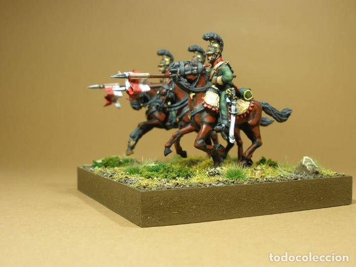 Maquetas: Diorama de la batalla de Waterloo 1815. Conjunto de tres lanceros del VI Regimiento de caballería li - Foto 3 - 241479480