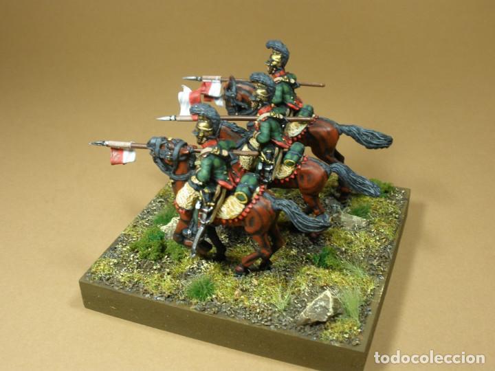 Maquetas: Diorama de la batalla de Waterloo 1815. Conjunto de tres lanceros del VI Regimiento de caballería li - Foto 4 - 241479480
