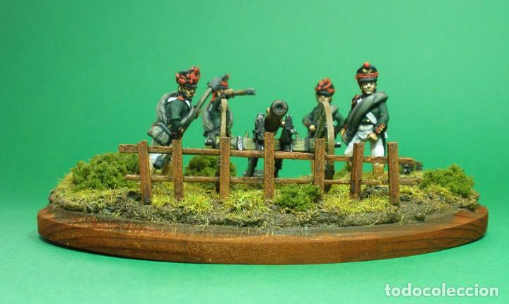 Maquetas: Conjunto de cuatro artilleros y cañón de 6 libras. Artilleria rusa de 1812. En metal blando. 28 mm. - Foto 2 - 241481480