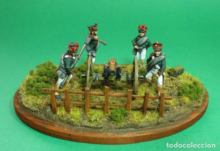 Maquetas: Conjunto de cuatro artilleros y cañón de 6 libras. Artilleria rusa de 1812. En metal blando. 28 mm. - Foto 3 - 241481480