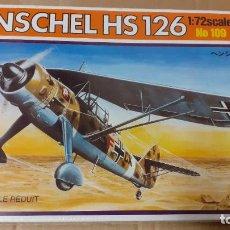 Maquettes: HENSCHEL HS 126. ITALERI 1/72. Lote 241724405