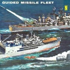 Maquetas: GUIDED MISSILE FLEET AND SEAPLANE TENDER (3 NAVÍOS) - REVELL G-333. Lote 242013505