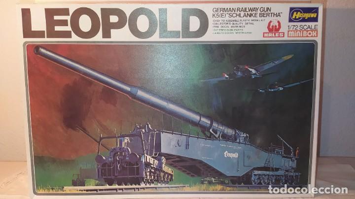 LEOPOLD GERMAN RAILWAY GUN K5 SCHLANKE BERTHA. HASEGAWA 1/72. NUEVO, SIN ABRIR. (Juguetes - Modelismo y Radiocontrol - Maquetas - Militar)