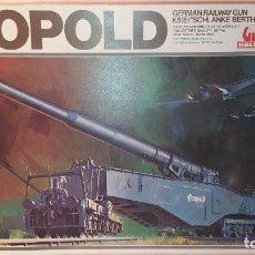 Maquetas: LEOPOLD GERMAN RAILWAY GUN K5 SCHLANKE BERTHA. HASEGAWA 1/72. NUEVO, SIN ABRIR.. Lote 242395745