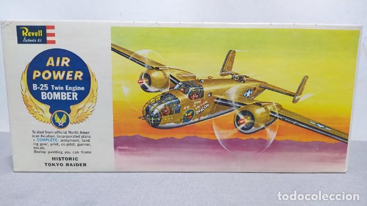 AIR POWER B-25 TWIN ENGINE BOMBER H 136 REVELL AÑO 1961. NUEVO, NUNCA MONTADO. (Juguetes - Modelismo y Radio Control - Maquetas - Aviones y Helicópteros)