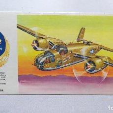 Maquetas: AIR POWER B-25 TWIN ENGINE BOMBER H 136 REVELL AÑO 1961. NUEVO, NUNCA MONTADO.. Lote 243374190