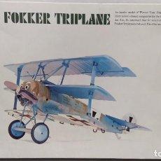 Maquetas: FOKKER TRIPLANE H-292 REVELL AÑO 1969. NUEVO, NUNCA MONTADO.. Lote 243381625