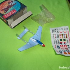 Maquetas: ANTIGUO JUGUETE DE HAVILLAND VENOM FB 4 DE LEHMANN EN CAJA, MADE IN WESTER GERMANY. Lote 243451540