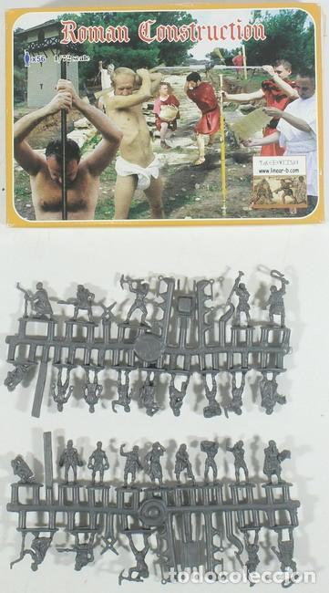MAQUETA FIGURAS ROMAN CONSTRUCCION, REF. 004, 1/72, LINEAR (INCOMPLETA) (Juguetes - Modelismo y Radiocontrol - Maquetas - Militar)