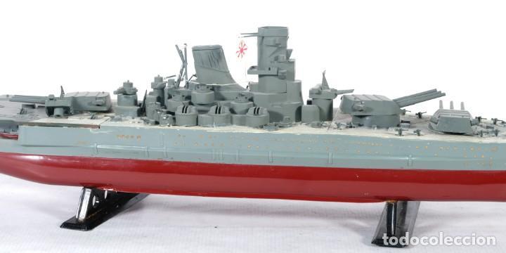 Maquetas: Maqueta de barco acorazado Yamato japonés segunda guerra mundial - Foto 2 - 243865540