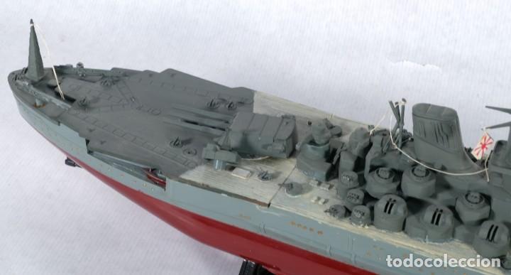 Maquetas: Maqueta de barco acorazado Yamato japonés segunda guerra mundial - Foto 5 - 243865540