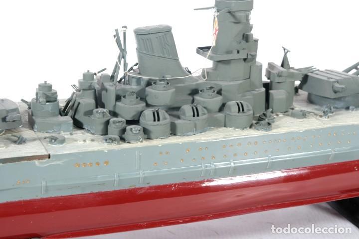 Maquetas: Maqueta de barco acorazado Yamato japonés segunda guerra mundial - Foto 7 - 243865540