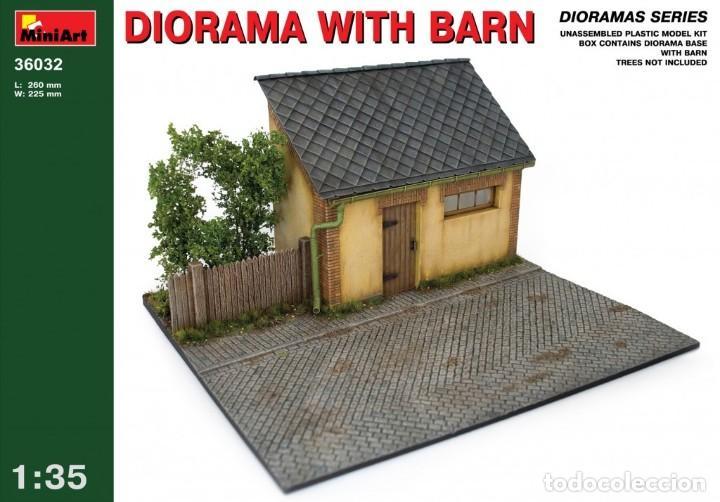 MINIART 35032 # DIORAMA WITH BARN (Juguetes - Modelismo y Radiocontrol - Maquetas - Construcciones)