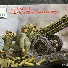 Maquetas: U.S. M1A1 75MM PACK HOWITZER 1:35 VISIÓN VM-35001 MAQUETA CAÑON CARRO. Lote 244778925