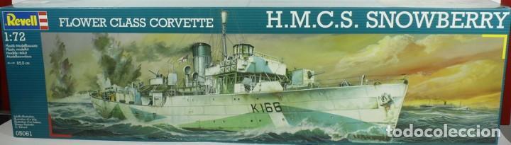 MAQUETA BARCO HMCS SNOWBERRY, FLOWER CLASS CORVETTE, REF. 05061, 1/72, REVELL (Juguetes - Modelismo y Radiocontrol - Maquetas - Barcos)