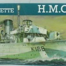 Maquetas: MAQUETA BARCO HMCS SNOWBERRY, FLOWER CLASS CORVETTE, REF. 05061, 1/72, REVELL. Lote 244940395