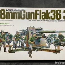 Maquetas: GERMÁN 88MM GUN FLAK 36/37 1:35 TAMIYA 35017 MAQUETA CAÑON CARRO TANQUE. Lote 244951615