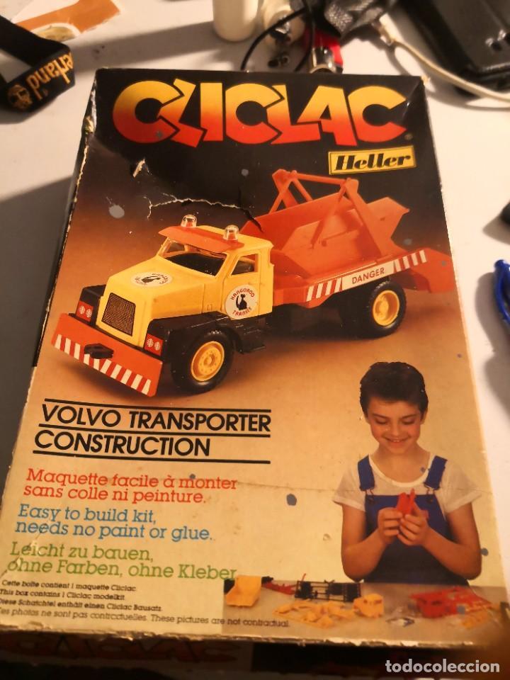 MAQUETA VLCLAC HELLER.. VOLVO TRANSPORTER MADE IN FRANCIA. NUEVA CAJA CON DEFECTO. MONTAJE CLIC (Juguetes - Modelismo y Radiocontrol - Maquetas - Construcciones)