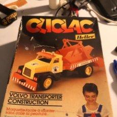 Maquetas: MAQUETA VLCLAC HELLER.. VOLVO TRANSPORTER MADE IN FRANCIA. NUEVA CAJA CON DEFECTO. MONTAJE CLIC. Lote 245502075