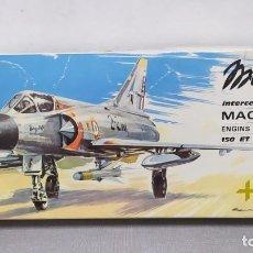 Maquetas: MIRAGE III C INTERCEPTEUR HELLER ESCALA 1/50 REF L 510, AÑO 1966. NUEVO, BOLSA PRECINTADA. Lote 245908920
