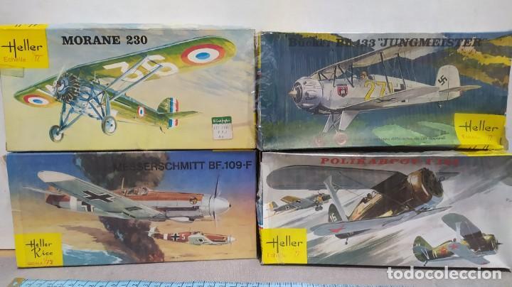 LOTE 4 AVIONES HELLER ESCALA 1/72 . AÑOS 60. NUEVOS, BOLSAS PRECINTADAS. (Juguetes - Modelismo y Radio Control - Maquetas - Aviones y Helicópteros)