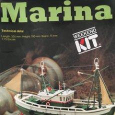 Maquetas: MARINA, MAQUETA MADERA BARCO, ARTESANIA LATINA, COMPLETO PERO INICIADA. Lote 246124875