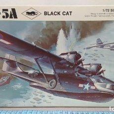 Maquetas: PBY-5A BLACK CAT REVELL H211. AÑO 69. NUEVO, BOLSA PRECINTADA. Lote 246886475