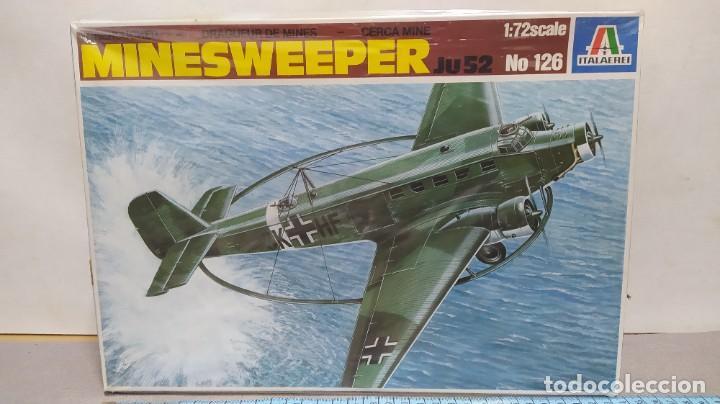 MINESWEEPER JU 52 ITALAEREI ESCALA 1/72. AÑO 80. NUEVO. (Juguetes - Modelismo y Radio Control - Maquetas - Aviones y Helicópteros)