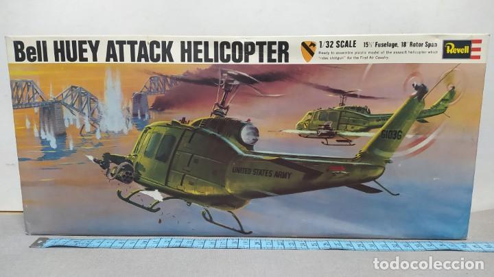 BELL HUEY ATTACK HELICOPTER REVELL ESCALA 1/32 AÑO 70 NUEVO. (Juguetes - Modelismo y Radio Control - Maquetas - Aviones y Helicópteros)