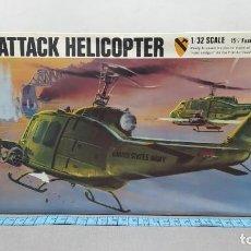 Maquetas: BELL HUEY ATTACK HELICOPTER REVELL ESCALA 1/32 AÑO 70 NUEVO.. Lote 247088400